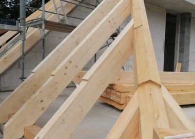 Bauvorhaben Dachtstuhl richten, Waidmannsluster Damm Berlin